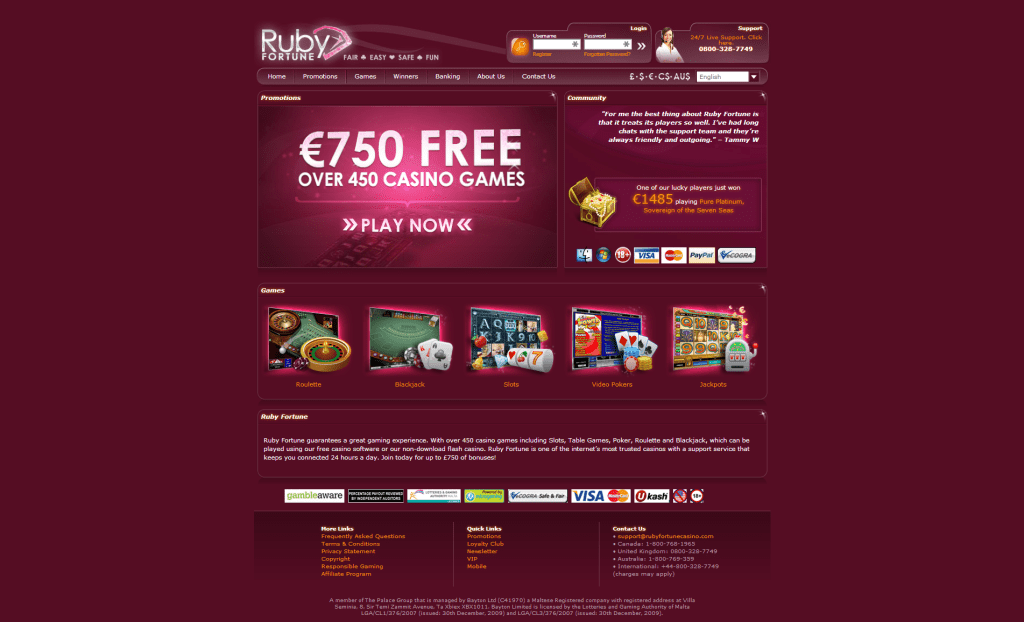 How to Locate a Free Ruby Fortune On line casino Slot Website